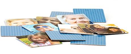 Memo-Spiel Karten mit individuellen Fotos