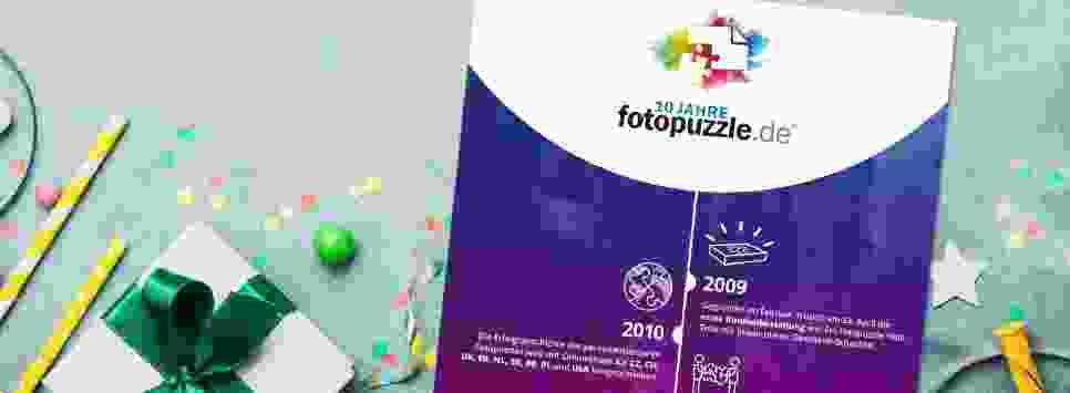 Infografik: 10 Jahre fotopuzzle.de