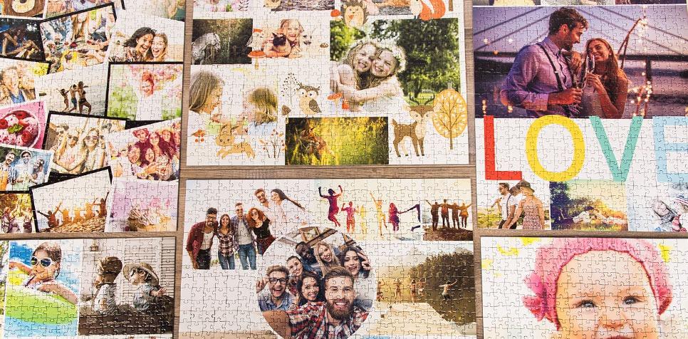 Teaser: Übersicht der Fotopuzzle-Collagen