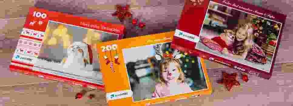 weihnachtliche Puzzle-Schachteln