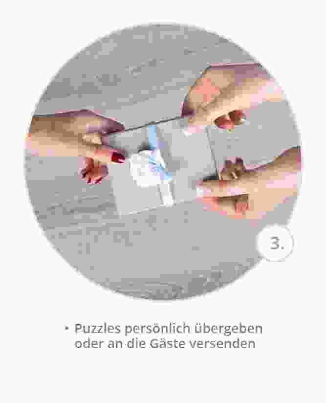Geburtstagseinladung als Puzzle gestalten: Schritt 3