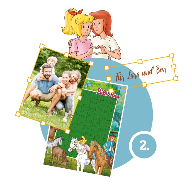 Bibi&Tina-Kinderpuzzle gestalten - Schritt 2