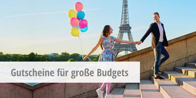 Gutscheine für großes Budget