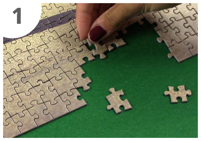 Gebrauchsanweisung Puzzle-Matte Schritt 1
