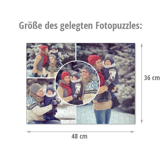 Größe des gelegten Fotopuzzles