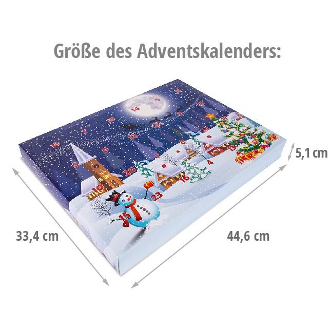 Größe des Adventskalenders