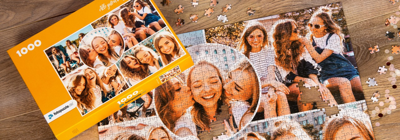 Fotopuzzle-Collage Freunde