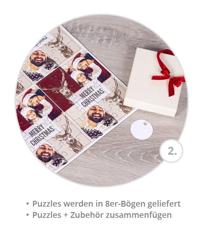 Weihnachtskarten als Puzzle gestalten - Schritt 2