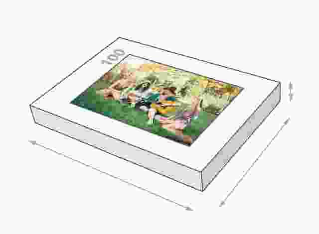 Fotopuzzle mit 100 Teilen Schachtelgröße