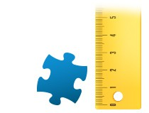 Größenverhältnis Puzzleteil Fotopuzzle 200 Teile