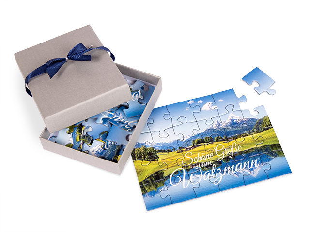 Puzzle als Postkarte