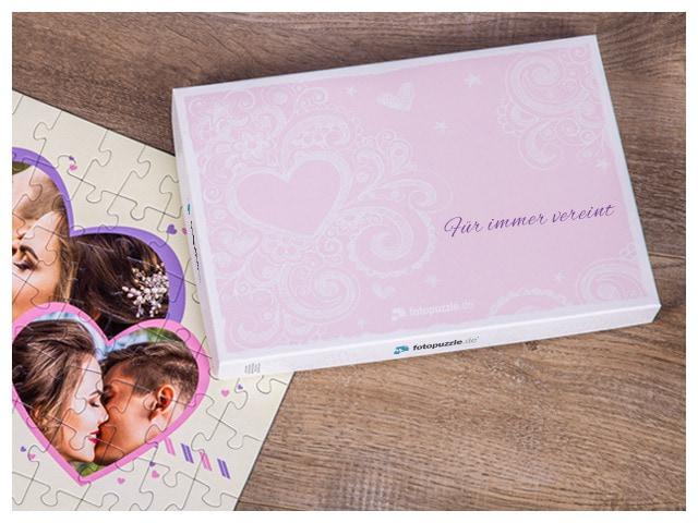 Gutschein-Puzzle in Schachtel verpackt