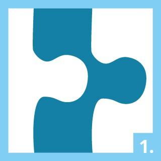 Gebrauchsanweisung Puzzle-Kleber Schritt 1