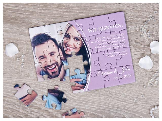 Puzzle als kreative Einladung und Botschaft