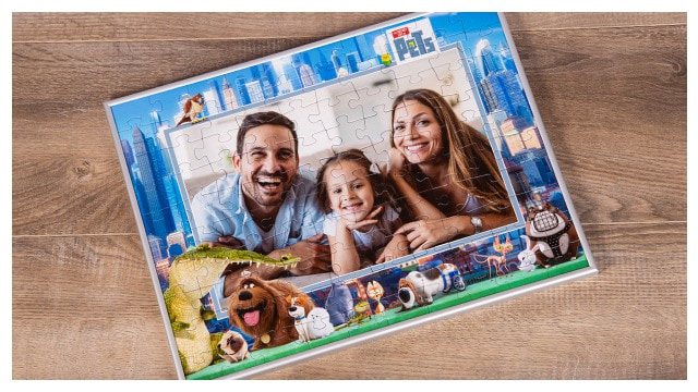 Passender Rahmen für Pets-Kinderpuzzles
