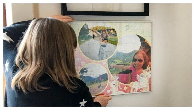 Passende Rahmen für die Kinderpuzzles gibt es bei uns im Shop