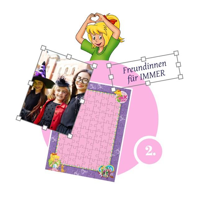 Bibi-Blocksberg-Kinderpuzzle gestalten - Schritt 2
