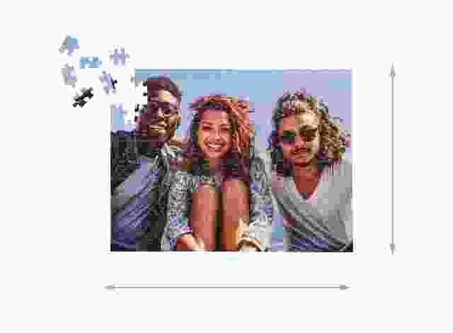 Fotopuzzle mit 200 Teilen Gelegte Größe