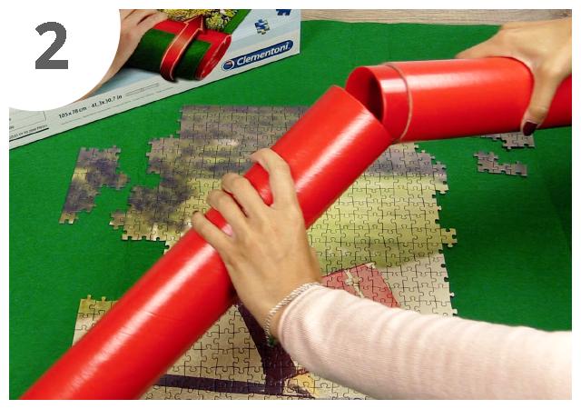 Gebrauchsanweisung Puzzle-Matte Schritt 2