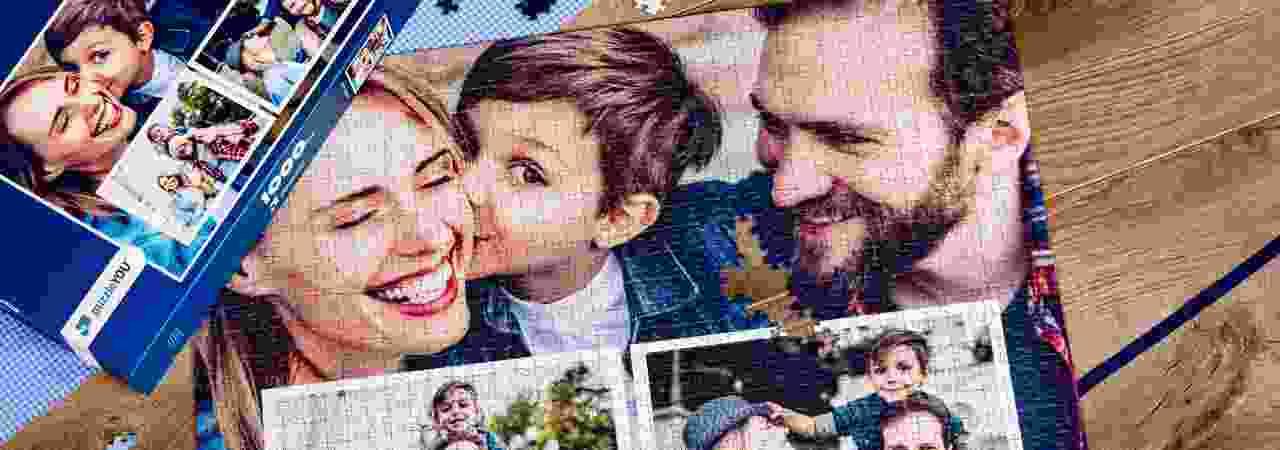 Fotopuzzle-Collage Familie