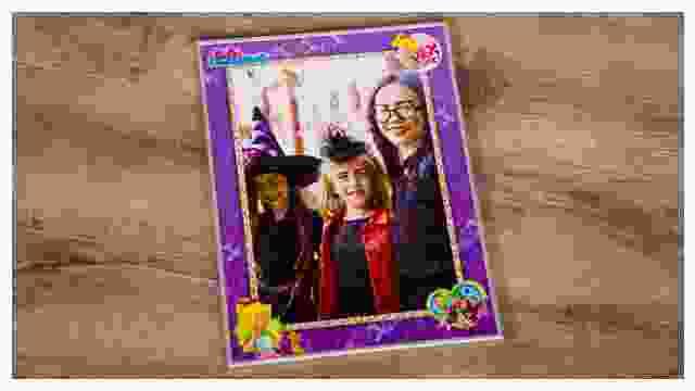 Passender Rahmen für Bibi-Blocksberg-Kinderpuzzles