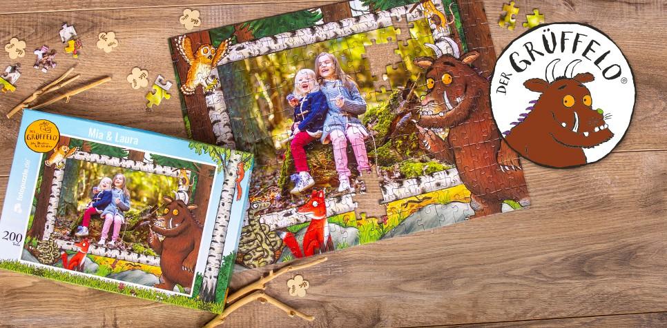 Grüffelo-Kinderpuzzle mit eigenen Fotos