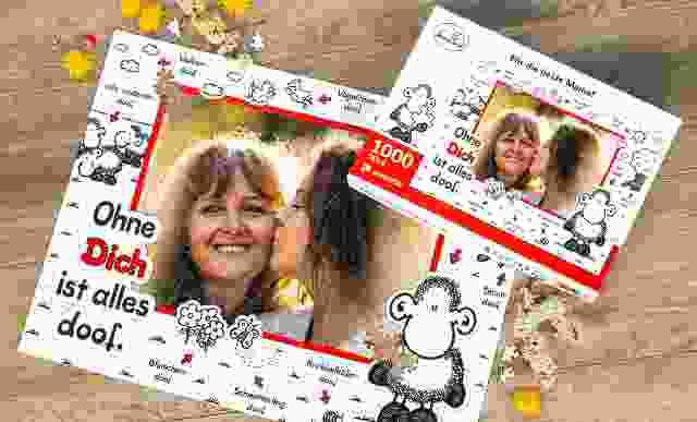 Puzzle im sheepworld-Design als Muttertagsgeschenk