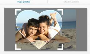Fotopuzzle 600 Teile, Herz gestalten