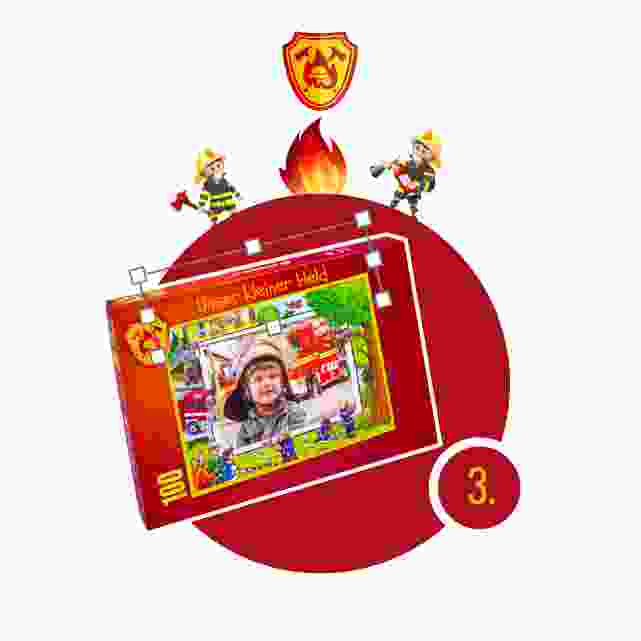 Feuerwehr-Kinderpuzzle gestalten - Schritt 3