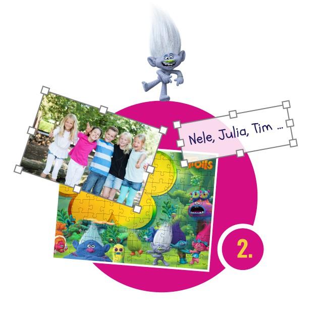 Trolls-Kinderpuzzle gestalten - Schritt 2