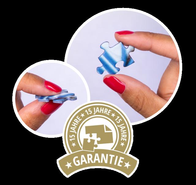 Qualitätsversprechen: Fotopuzzles mit 15 Jahren Garantie