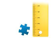 Größenverhältnis Puzzleteil Fotopuzzle 500 Teile