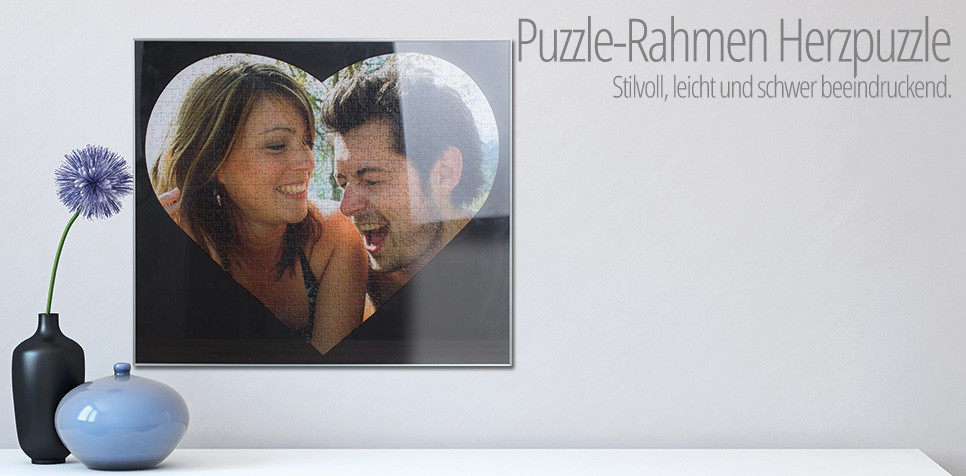 Puzzle-Rahmen Herz 600 Teile