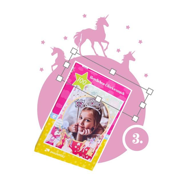 Einhorn-Kinderpuzzle gestalten - Schritt 3