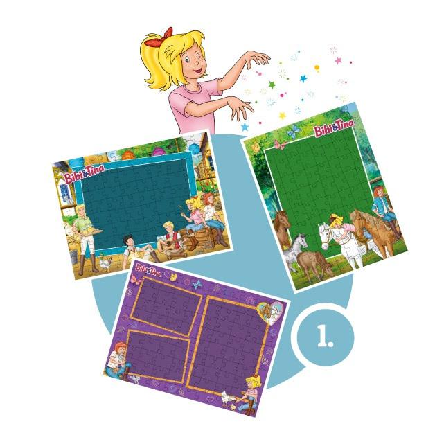 Bibi&Tina-Kinderpuzzle gestalten - Schritt 1