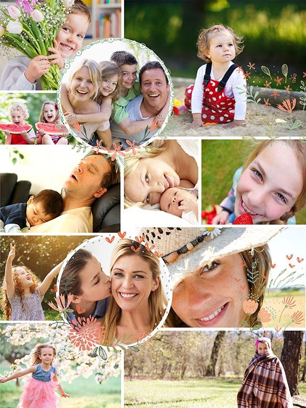 Fotopuzzle-Collage Illustration 12 Bilder