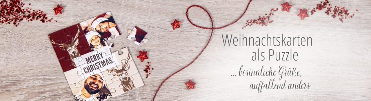 Weihnachtskarten als Puzzle - besinnliche Grüße, auffallend anders