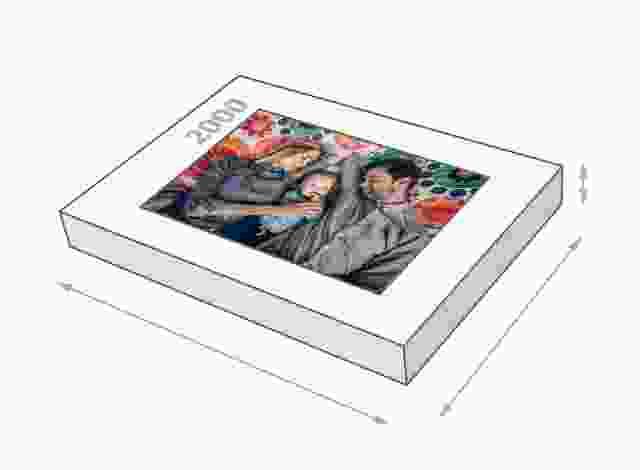 Fotopuzzle mit 2000 Teilen Schachtelgröße