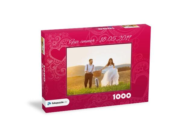 Hochzeitsfoto Brautpaar 1000 Teile Puzzle