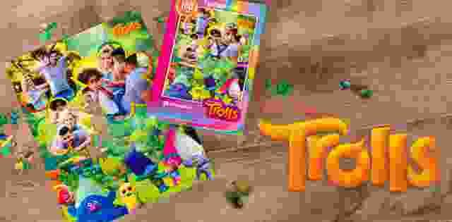 Die Trolls und Ihr Kind - gemeinsam auf einem Puzzle