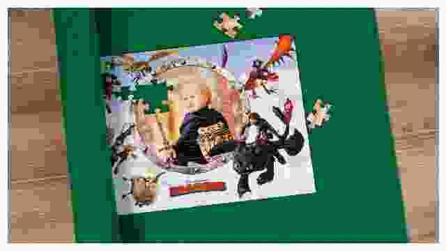 Puzzle-Matte für Dragons-Kinderpuzzle