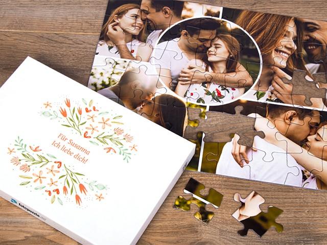 Fotopuzzle 48 Teile Hochzeitspaar