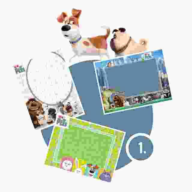 Pets-Puzzle gestalten - Schritt 1