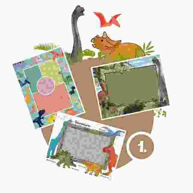 Dinosaurier-Kinderpuzzle gestalten - Schritt 1