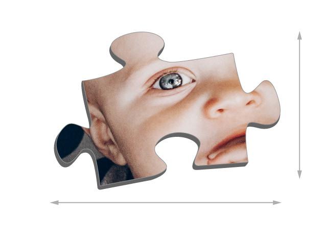 Fotopuzzle mit 2000 Teilen Größe der Puzzleteile