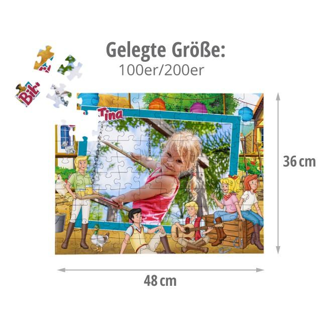 Gelegte Größe des Kinderpuzzles