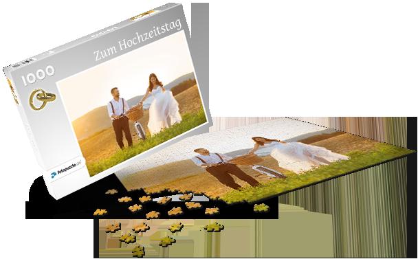 Puzzle-Schachtel Hochzeit