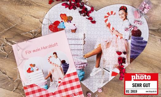 Herzpuzzle Valentinstagsgeschenk