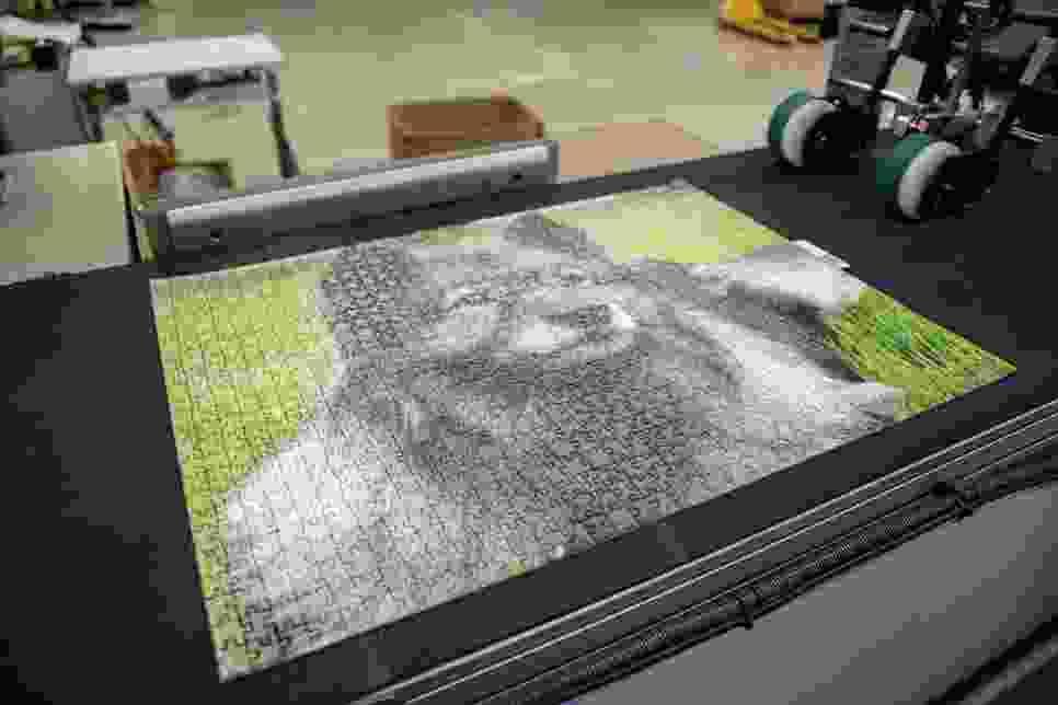 Puzzleteile stanzen