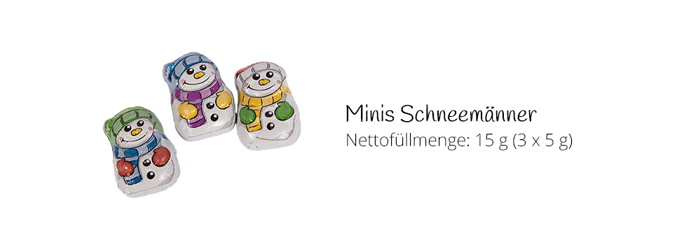 Mini-Schneemänner aus Schokolade